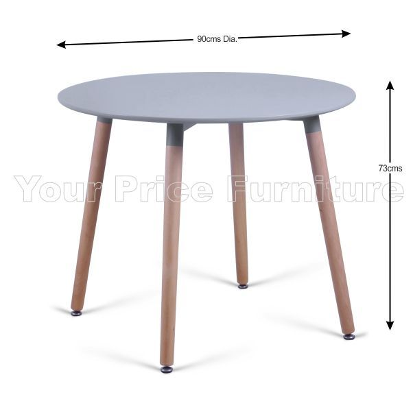 Eiffel Designer Dining Set Grey Round Table U0026 4 Grey Chairs Sale Now On  Your Price Furniture